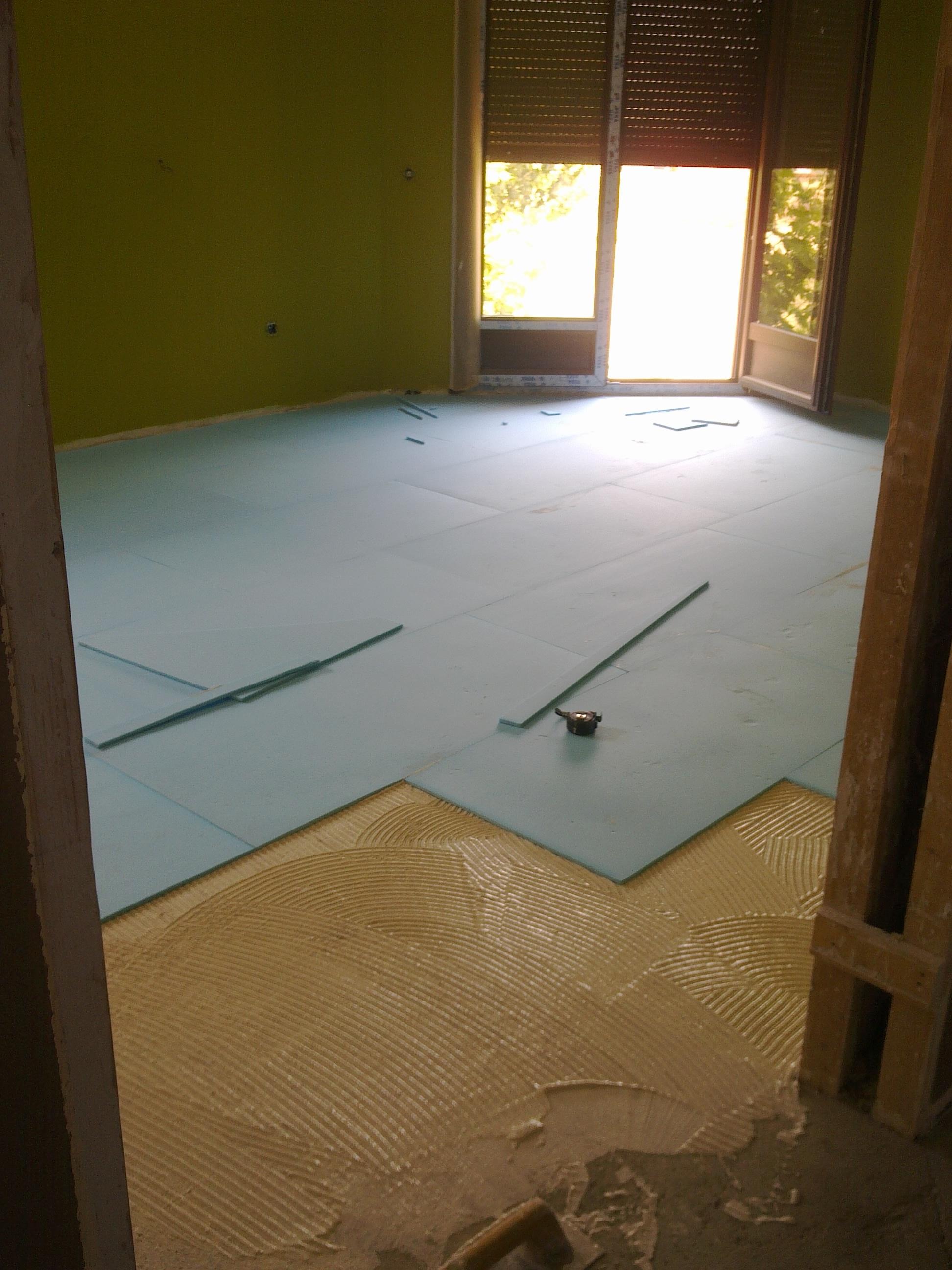 Salon aislante suelo tarima 1 instalaciones el ctricas - Aislantes termicos para suelos ...